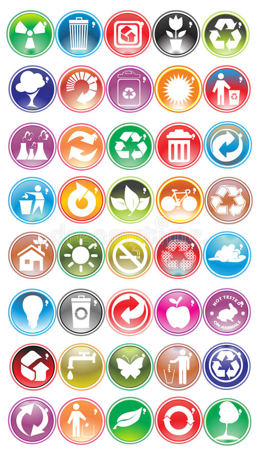 Download Environmental icons stock vector. Illustration of recycling - 11661600