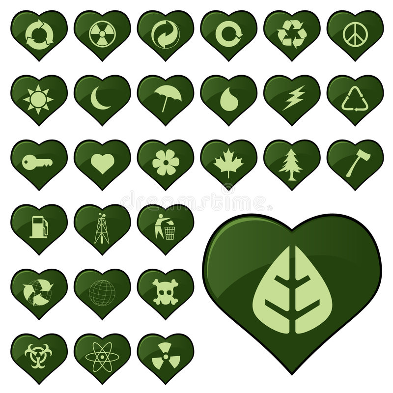 Environmental Icons Editorial Image