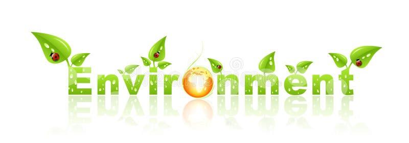Environmental label vector illustration