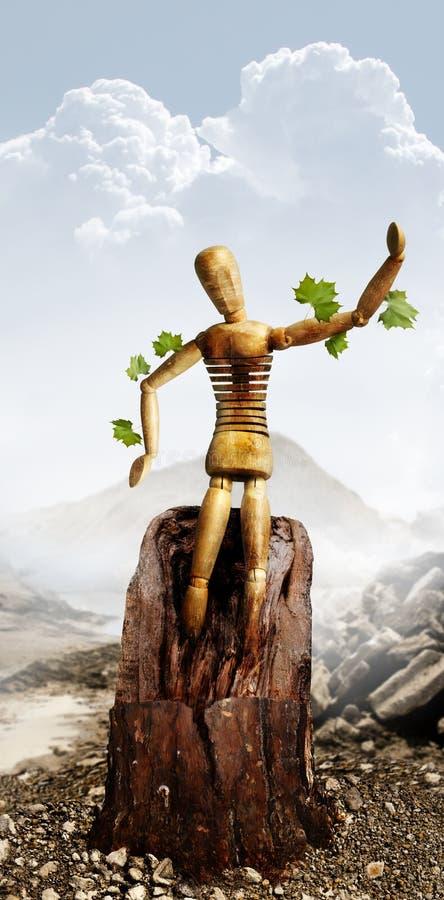 Environmental man royalty free stock photo