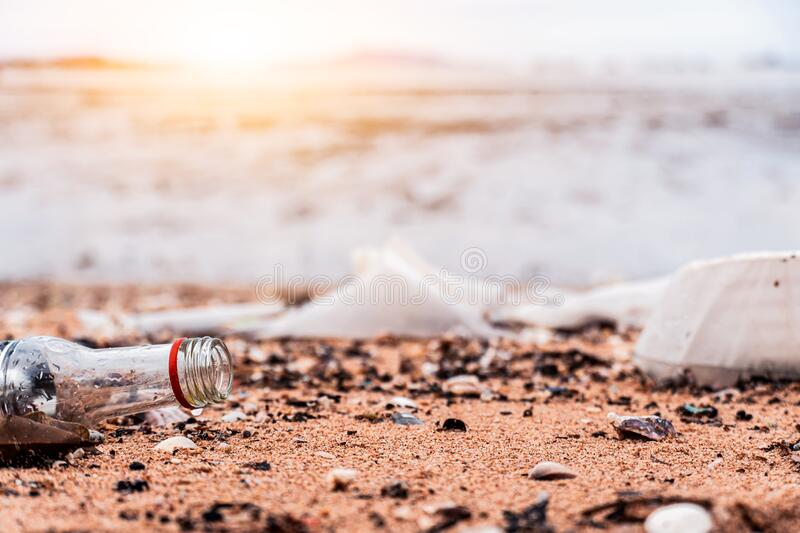 Environmental & Plastic Awareness. World Environment Day concept. Save earth save royalty free stock image