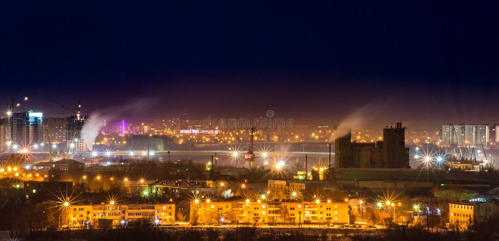 Environmental pollution the night royalty free stock images