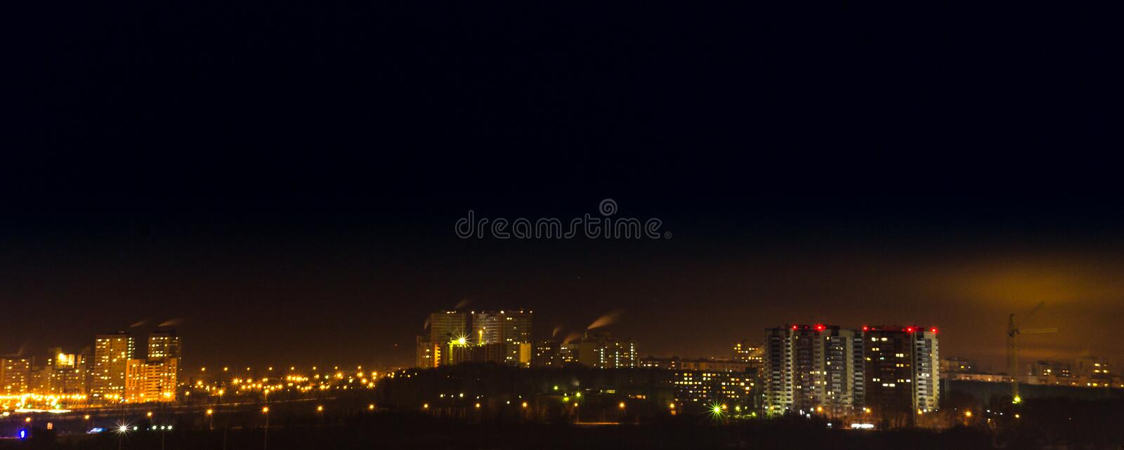 Environmental pollution the night royalty free stock image