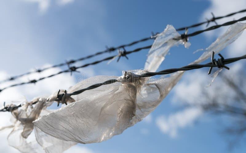 Environmental Problem Plastic Rubbish Outdoors royalty free stock photos