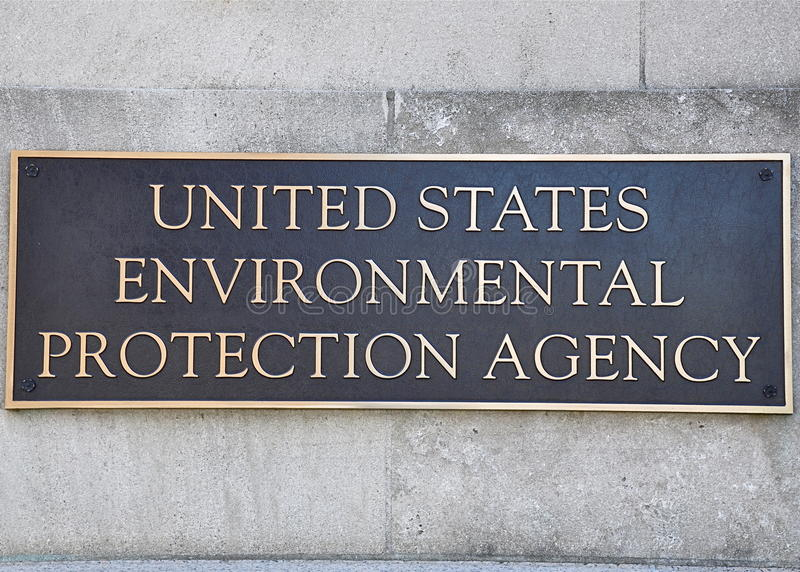Environmental Protection Agency sign. Washington, DC, USA - May 5, 2011: United States Environmental Protection Agency (EPA) sign at the headquarters building in