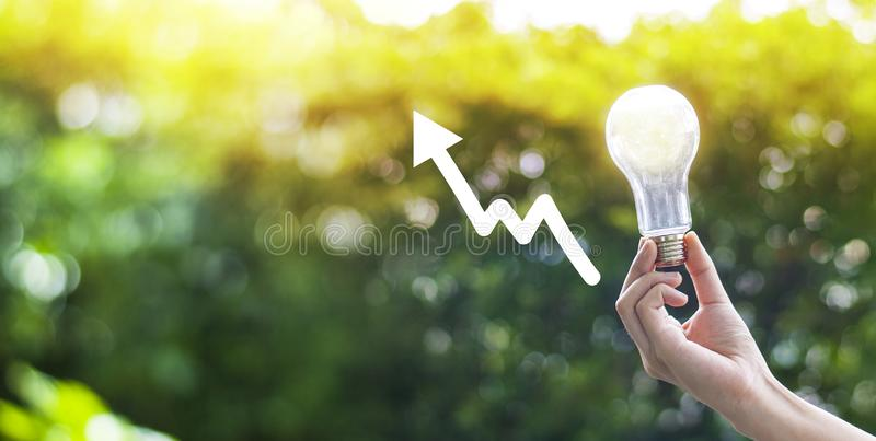 Environmental protection Creativity on Earth Day or the concept of saving energy and the environment royalty free stock images