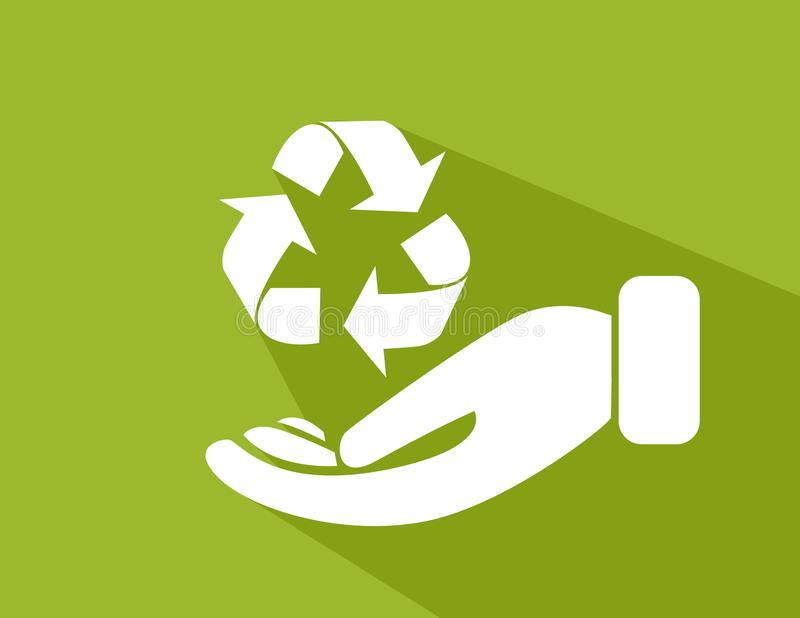 Environmental protection. Recycle sign vector royalty free illustration