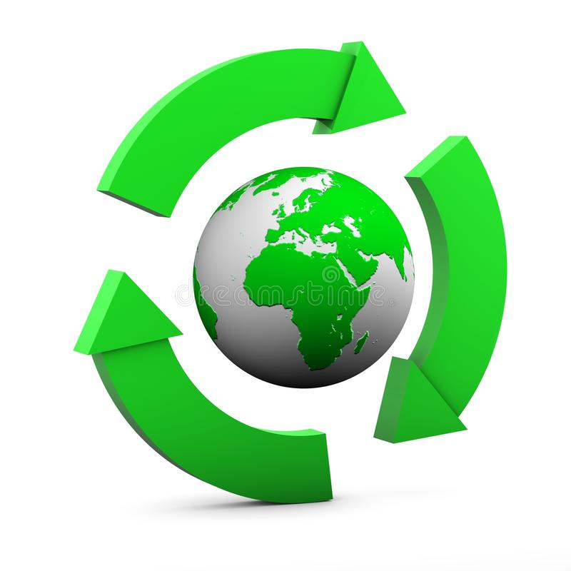 Environmental Sign Europe And Africa Stock Photo