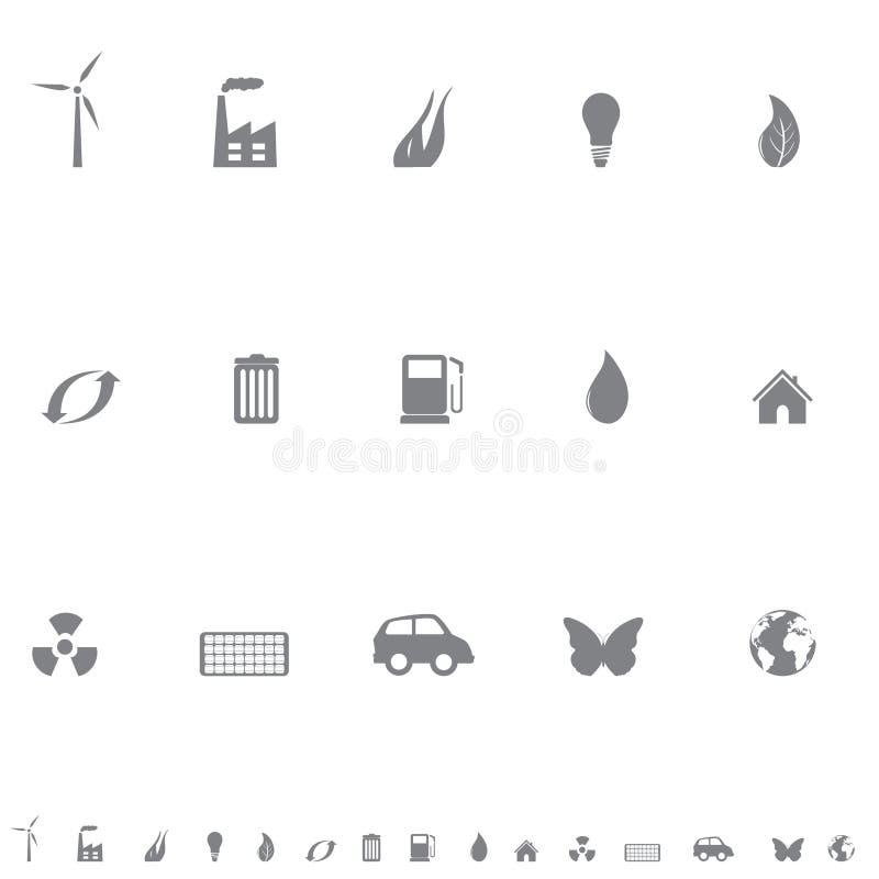 Environmental symbols icon set royalty free illustration
