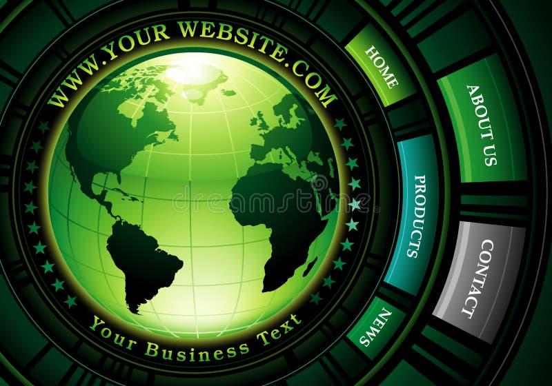 Environmental website design stock illustration