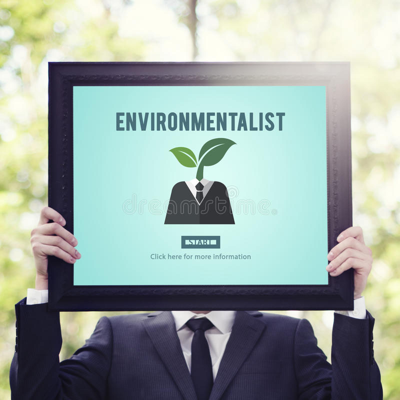 Environmentalist Ecologist Nature Conservationist Concept stock image