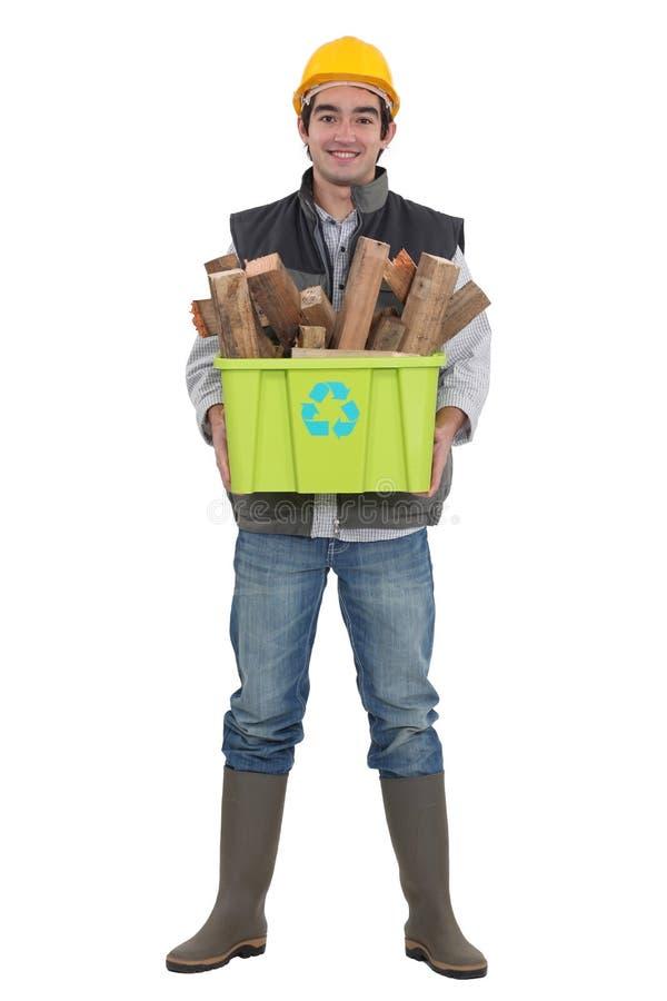 Environmentally Friendly Tradesman Royalty Free Stock Image