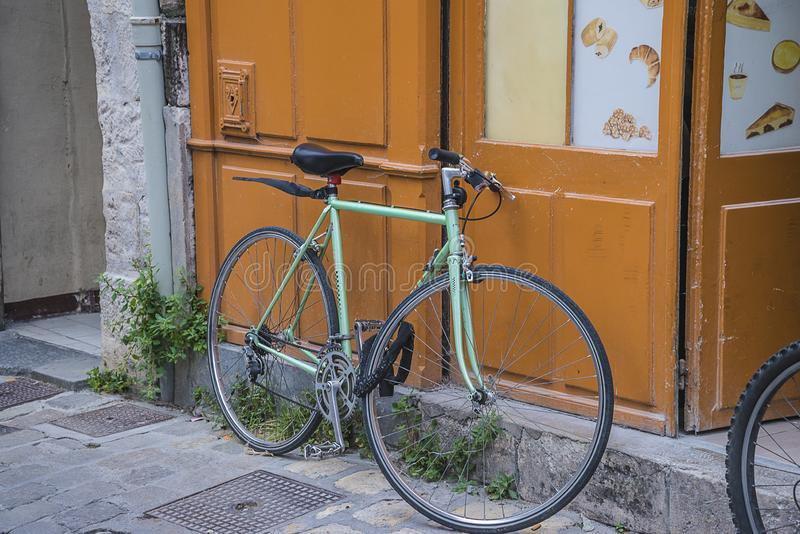 Environmetal friendly mode of transportation. Bicycle stock images
