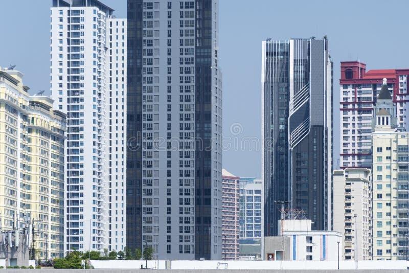 Environnement bloqué par vision de construction résidentielle de densité photos libres de droits