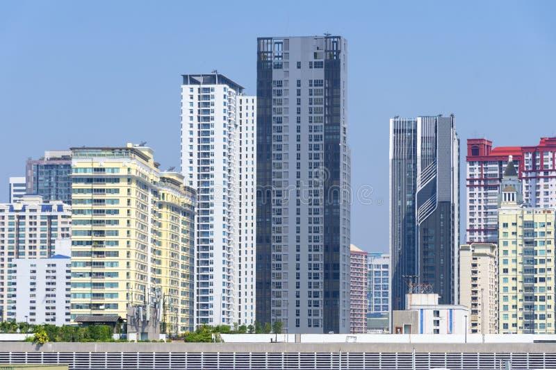 Environnement bloqué par vision de construction résidentielle de densité photo libre de droits