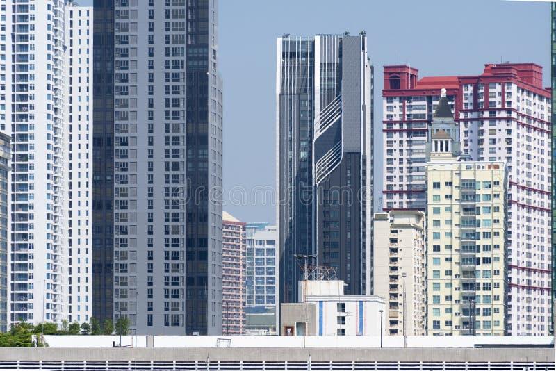 Environnement bloqué par vision de construction résidentielle de densité photo stock