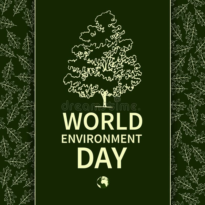 Environnement Day-02 du monde illustration de vecteur