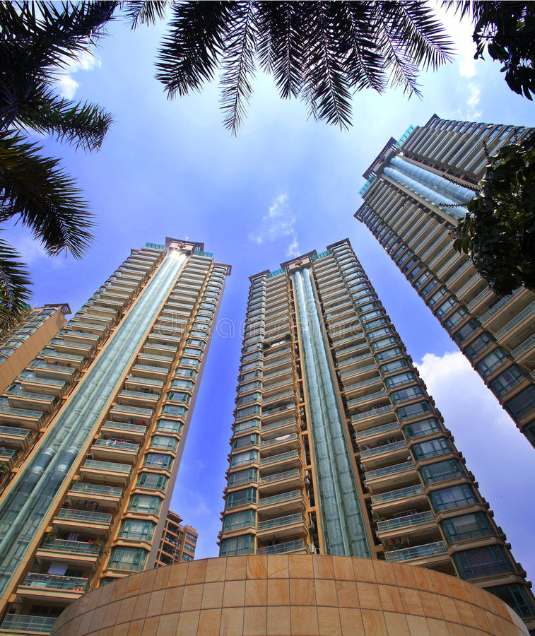 Environnement de la communauté des immobiliers de la Chine photo stock