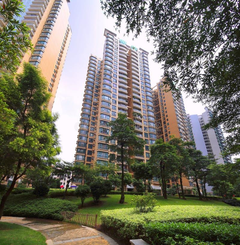 Environnement de la communauté des immobiliers de la Chine image libre de droits