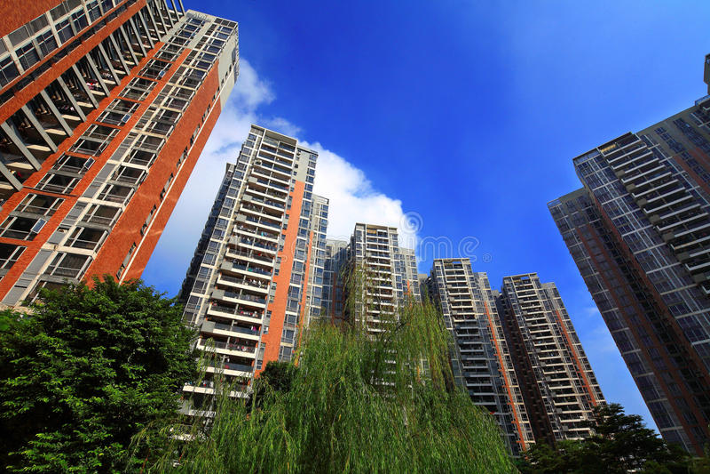 Environnement de la communauté des immobiliers de la Chine photos libres de droits