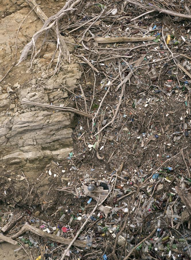 Environnement fortement pollué photographie stock libre de droits