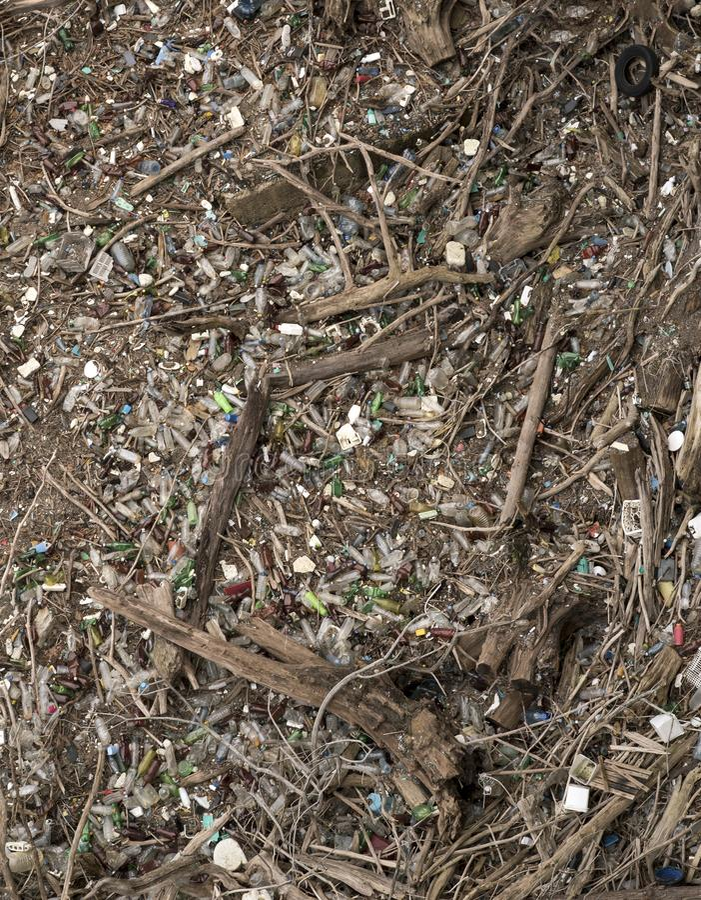Environnement fortement pollué image stock