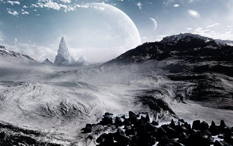 Environnement froid illustration de vecteur