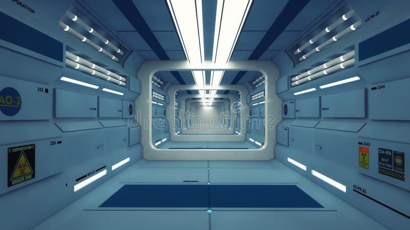 Environnement intérieur futuriste illustration de vecteur