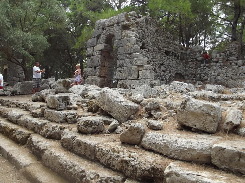 Environs de Phaselis images stock
