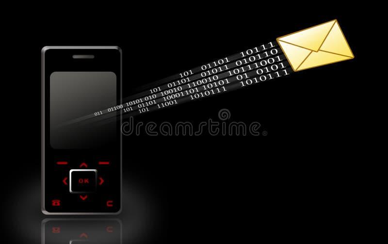 Envoi de message illustration de vecteur