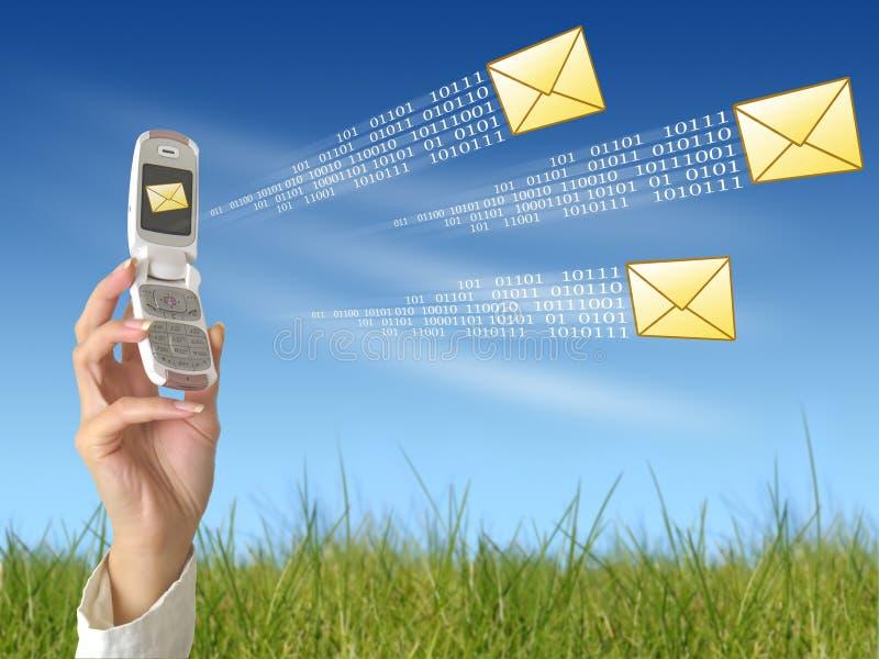Envoi du message photos libres de droits