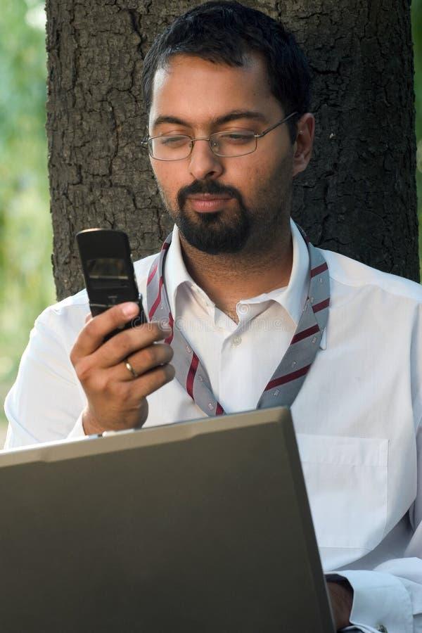 Envoi du message avec texte photos libres de droits