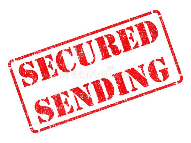 Envoi fixé - tampon en caoutchouc rouge. images stock