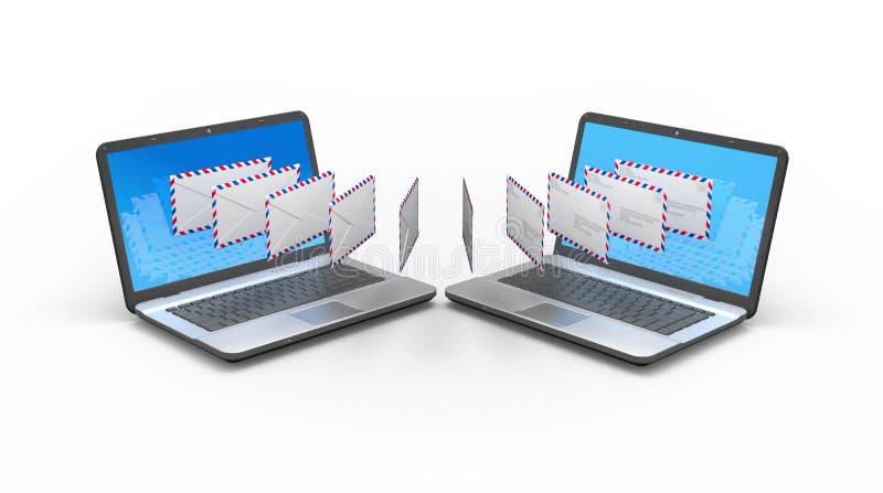 Envoi par courrier électronique de l'illustration du concept 3d image stock