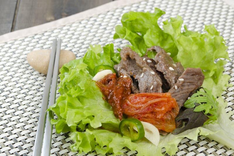 Envoltório de Bulgogi da carne foto de stock royalty free