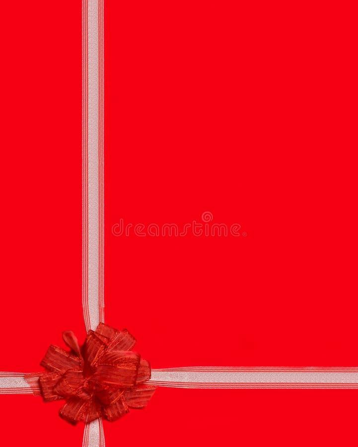 Envoltório de presente vermelho da fita imagem de stock royalty free