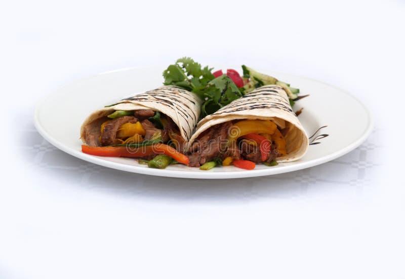 Envoltórios do Tortilla imagens de stock royalty free