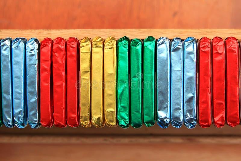 Envolturas coloridas fotografía de archivo libre de regalías