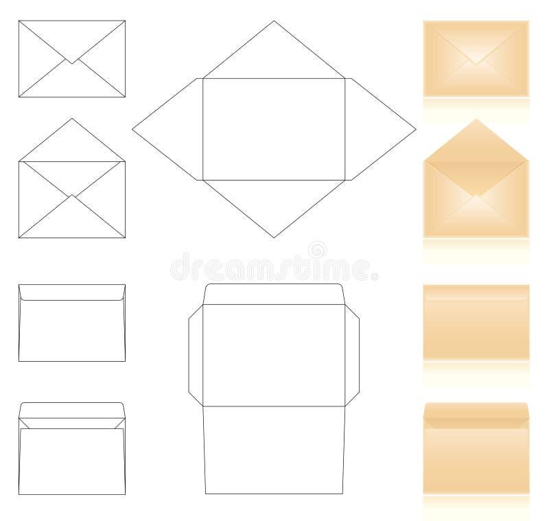 Envolve moldes ilustração royalty free