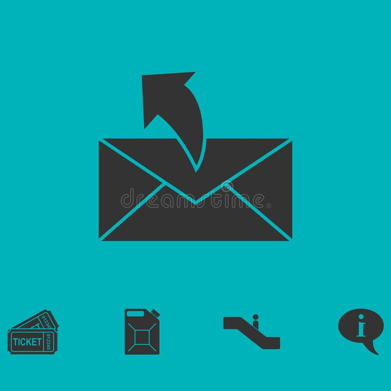Envoyant l'icône de courrier à plat illustration de vecteur