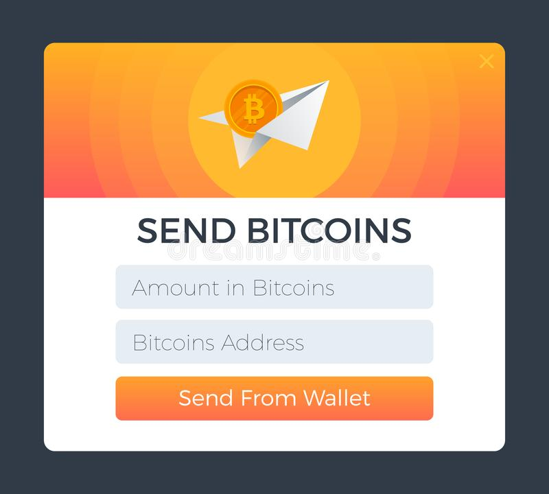 Envoyez du portefeuille illustration stock