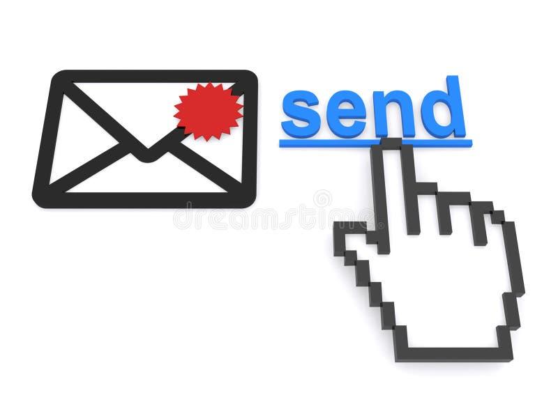 Envoyez le message électronique prioritaire illustration de vecteur