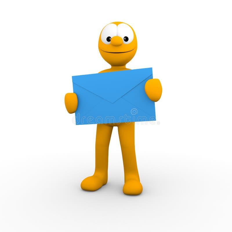 Envoyez un courrier illustration libre de droits
