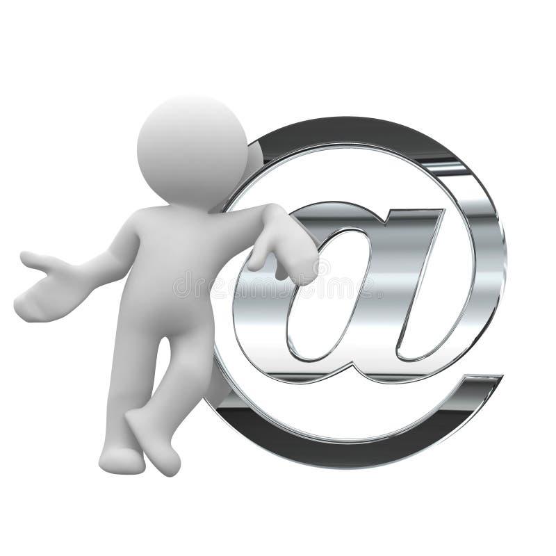 Envoyez un courrier illustration de vecteur