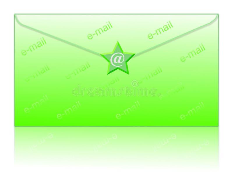 Envuelva y envíe por correo electrónico el símbolo ilustración del vector