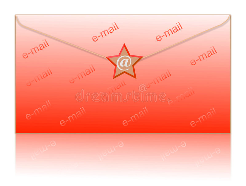 Envuelva y envíe por correo electrónico el símbolo stock de ilustración