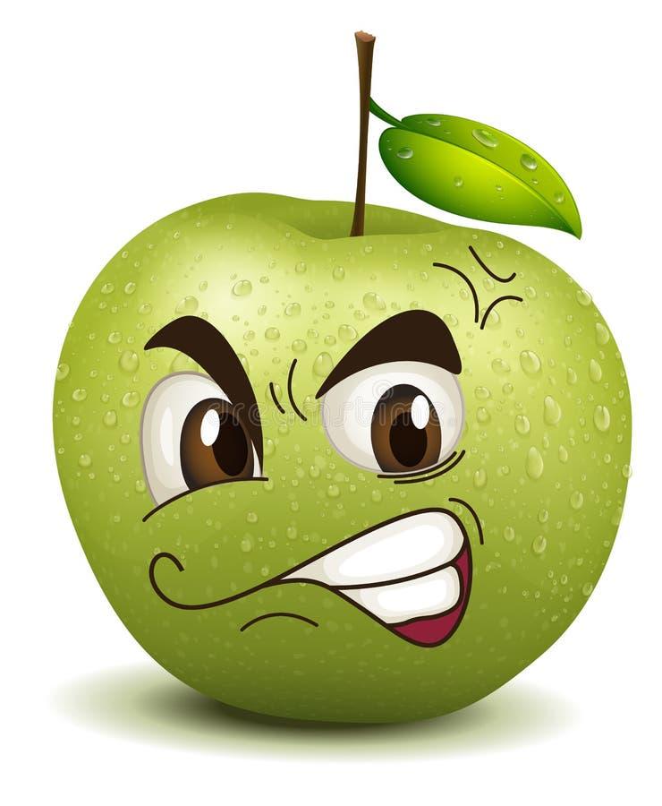 Envy apple smiley stock illustration