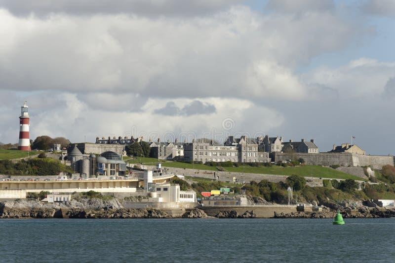 Enxada do mar, Plymouth de Plymouth: regeneração moderna fotos de stock