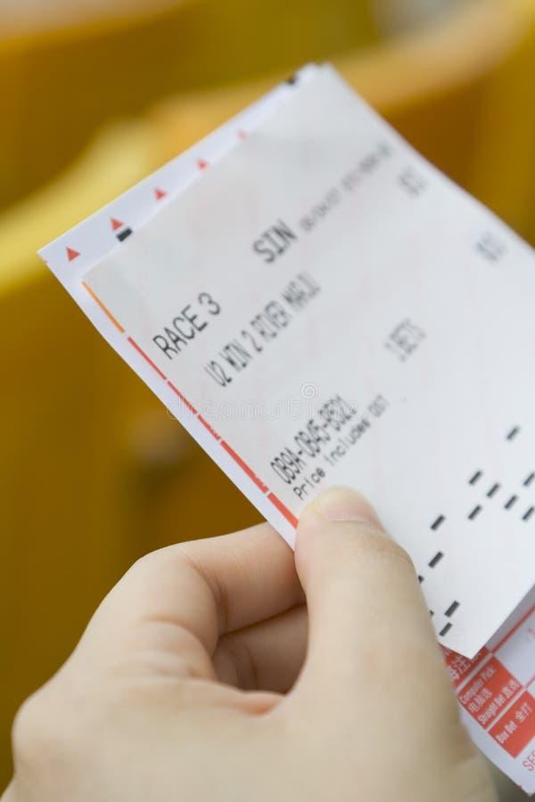 Enxerto da aposta para a corrida de cavalos imagens de stock