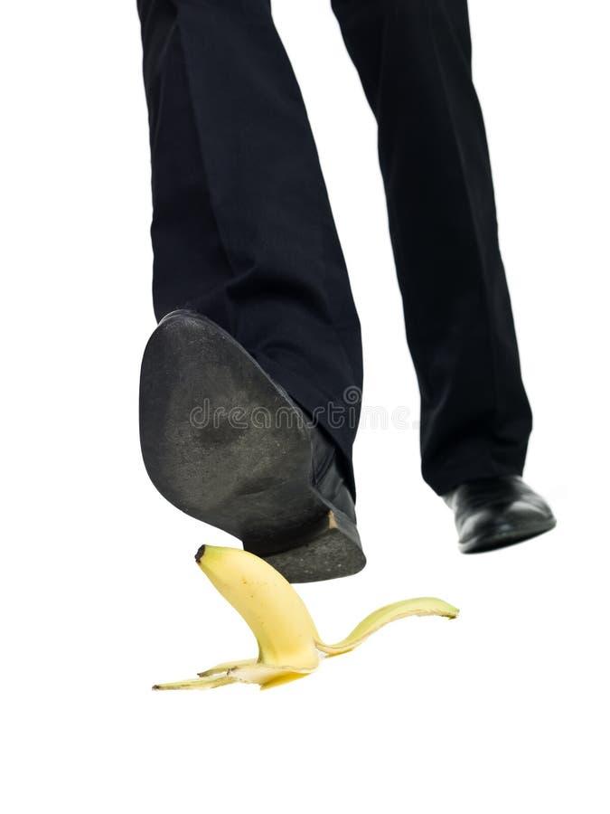 Enxerto da casca da banana foto de stock royalty free